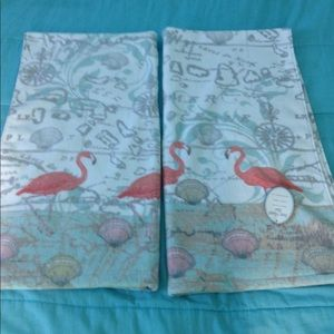 Flamingo & Shell Bath Towels